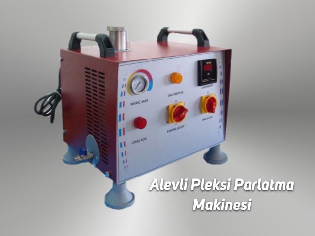 Alevli Pleksiglas Parlatma Makinesi